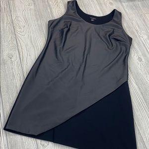 Metaphor Black Faux Leather Dress - sz XL